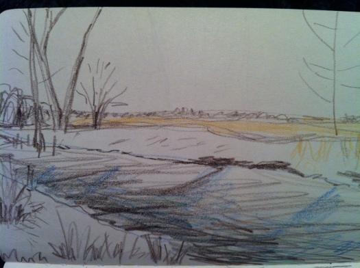 Beaver Work w: Snow 31 Dec 12