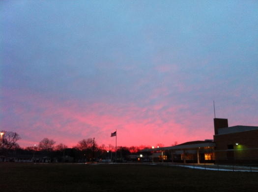 Pink and Blue Sunrise 27 Jan 13