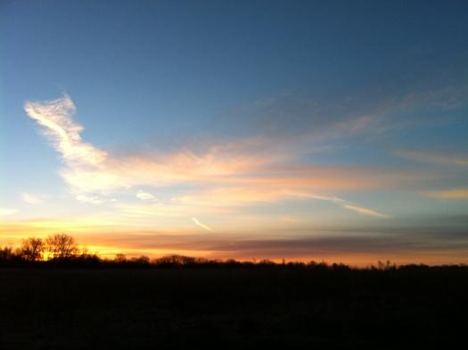 Sunrise over Weaver Park 20 Jan 13
