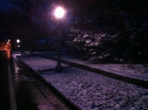 Barely Light, with Snow