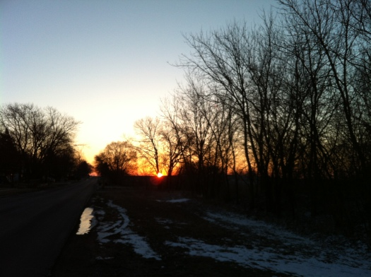 Sunrise with Remaining Snow 3 Mar 13