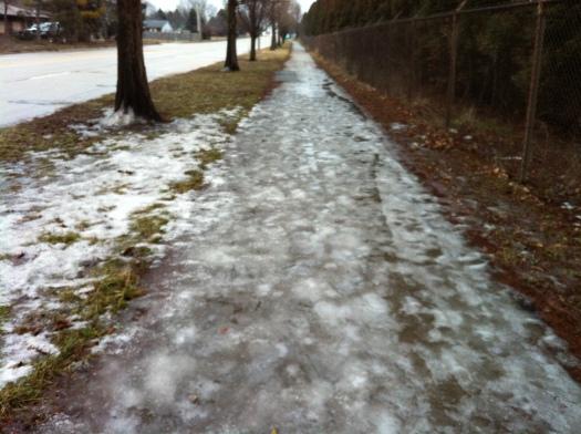 Wet Bumpy Ice