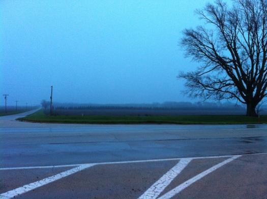 Washington E of High Cross in Early Rain